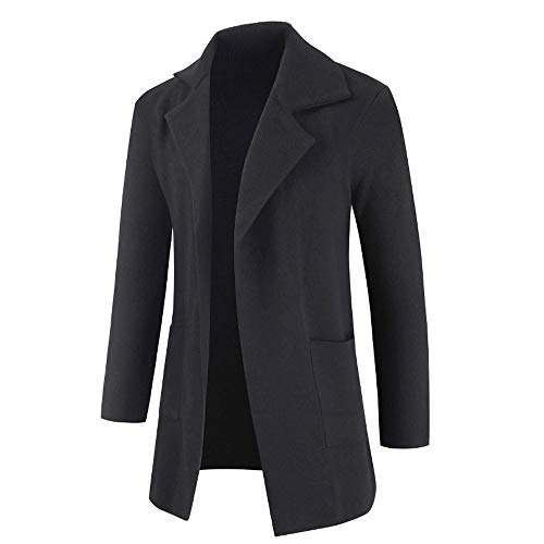 iZHH Men's Jackets New Mid Autumn Sweater Jacket in Autumn and Winter Pure Cardigan Coats Outwear