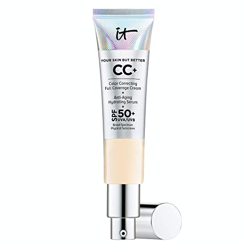 IT Cosmetics Your Skin But Better CC+ Cream, Fair (W) – Color Correcting Cream, Full-Coverage Foundation, Hydrating…