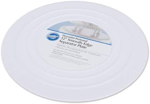 6-Inch Wilton Smooth Edge Separator Plate for Cakes