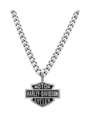 Harley-Davidson Mens Bar & Shield Curve Link Necklace Sta...