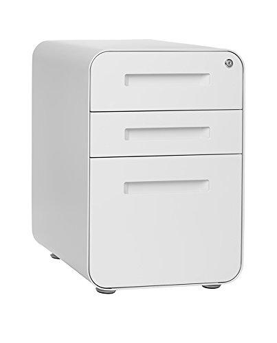 Stockpile 3 Drawer File Cabinet (White)