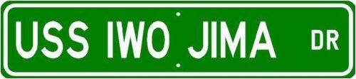 USS IWO JIMA LHD 7 Street Sign - Navy