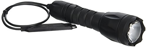 Bezel Remote - Elzetta B336 Bravo 2-Cell Flashlight with Crenellated Bezel Ring, High Output AVS Head, Remote Tape Switch with 12
