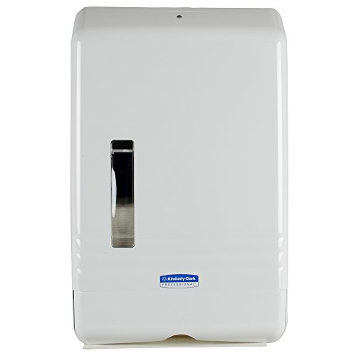 (SlimFold Folded Paper Towel Dispenser (06904), Compact, One-at-a-Time Manual Dispensing, White)