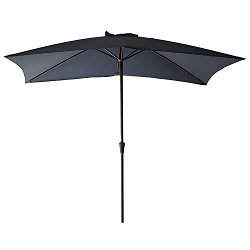 (FLAME&SHADE Rectangle Patio Umbrella Outdoor Market Style 6'6