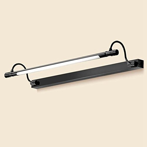 JIN American Front Mirror Retro Led American Mirror Headlights European Bathroom Mirror Simple Bathroom Lamps Mirror Cabinet Lights , 68CM , Matte Black by FBHVJ