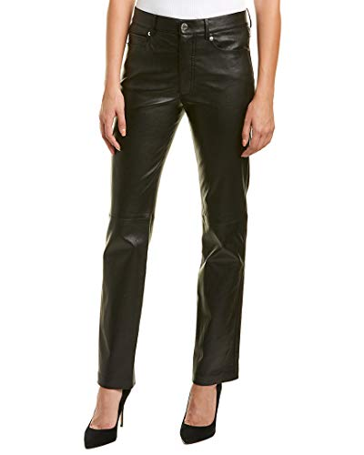 Helmut Lang Womens Slim Fit Leather Pant, 4, ()