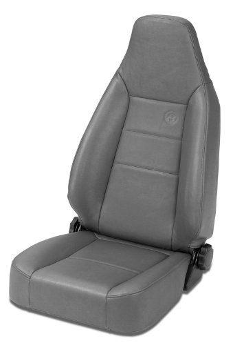 Front Replacement Seat Slider - Bestop 39434-09 TrailMax II Sport Charcoal Front High Back All-Vinyl Single Jeep Seat for 1976-2006 Jeep CJ and Wrangler