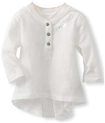 Diesel Baby-Girls Infant Tuivanb Long Sleeve Jersey Cotton Shirt, Cream, 3 Months