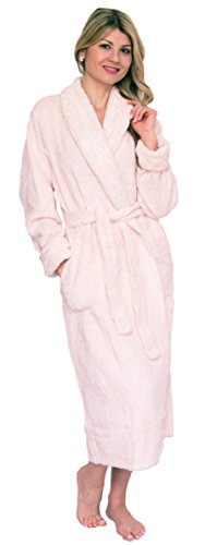 Bath & Robes Women's Chenille Robe with Shawl 3X Champagne Cream (Cotton Women Chenille For Robes)