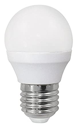 Bombilla LED esférica 6W (equivalente a 40W) Luz calida (3000K) no dimmable