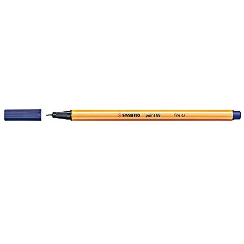 STABILO point 88  10er Faltschachtel nachtblau - Fineliner