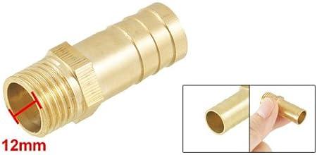 Ton Or en laiton 10/mm combustible Gaz Flexible Barb 1//5,1/cm PT filetage m/âle Raccord de fixation