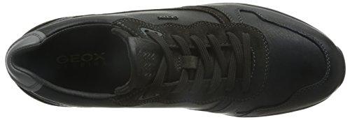 Geox U Jepson E, Zapatillas para Hombre Schwarz (BLACK/MUDC9355)