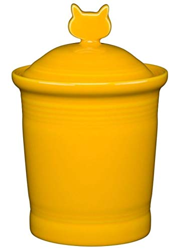 (Fiesta Cat Treat Jar - Daffodil Yellow )
