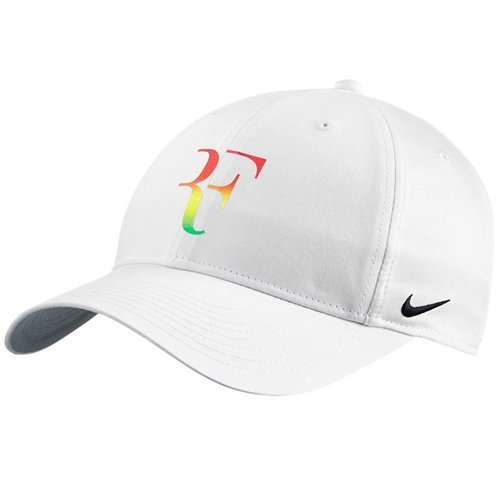 NIKE Mens Roger Federer RF Iridescent Pro Hat White/Flint Grey 835536-010
