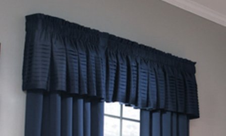 Allen Roth 18' x 45' Navy Lincolnshire Tailored Valance
