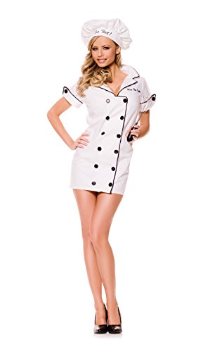 Sexy Hot Costumes (Underwraps Women's Too Hot, White/Black, Small)