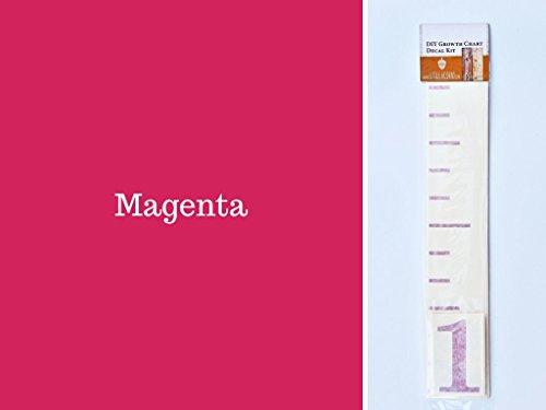 DIY Vinyl Growth Chart Ruler Decal Kit, Large #s - Magenta
