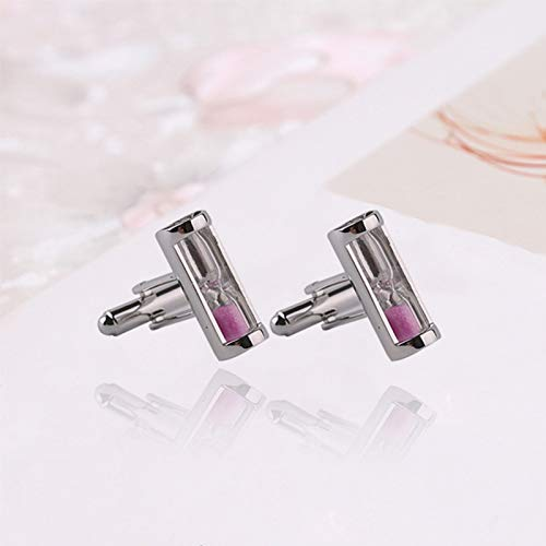 Da.Wa Time Hourglass Pattern Cuff Links Men's Business Wedding Cufflinks Set by Da.Wa (Image #6)
