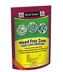 Free Lawn Food - Ferti-Lome Weed Free Zone Plus Lawn Fertilizer 18-0-6 19lbs