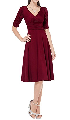 Buy long sleeve empire waist cocktail dress - 7