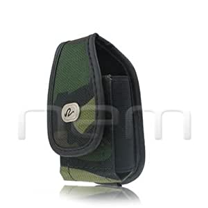 VERTICAL HEAVY DUTY RUGGED CAMOUFLAGE DESIGN COVER BELT CLIP SIDE CASE POUCH FOR ATT Samsung Rugby II 2 Two SGH-A847