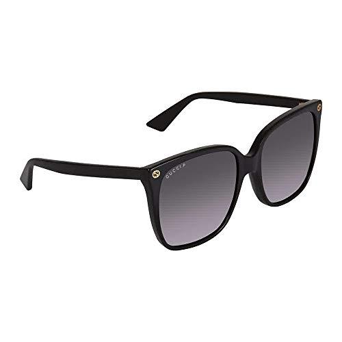 GUCCI GG0022S - 007 Sunglasses 57mm (Womens Grey Gucci Sunglasses)