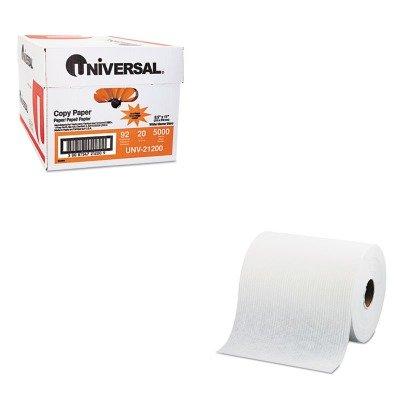 kitkim41702unv21200 – Value Kit – Kimberly Clark WYPALL X70 CenterPull limpiaparabrisas (kim41702) y Universal