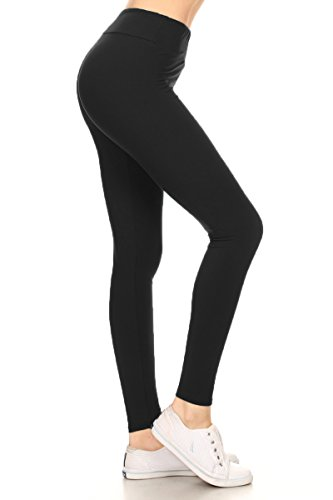 6259046e5aa56c Leggings Depot Higher Waist Women's Buttery Soft Solid Leggings 22+Colors