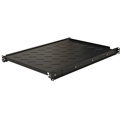 NavePoint Sliding Rack Vented Server Shelf 1U 19'' 4 Post Rack Mount 25.50'' (650mm) Deep by NavePoint