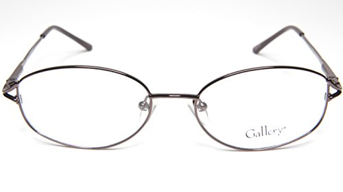 NEW GALLERY DORSEY BR BROWN EYEGLASSES WOMEN GLASSES OVAL FRAME 51-16-138 - Eyewear Gallery
