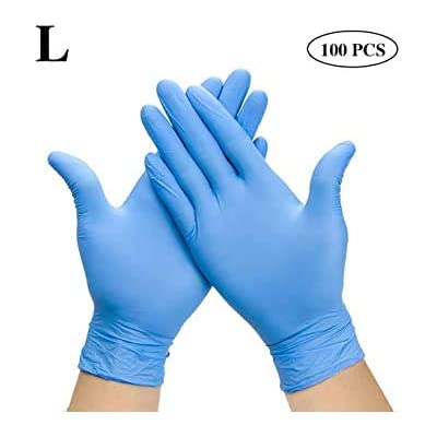 Disposable Nitrile Gloves, Inspection Gloves (L), Latex-Free, Powder-Free, Texture, Disposable Gloves(L, Blue) : Garden & Outdoor