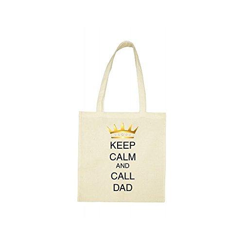 Tote beige keep calm bag call dad wSwHq