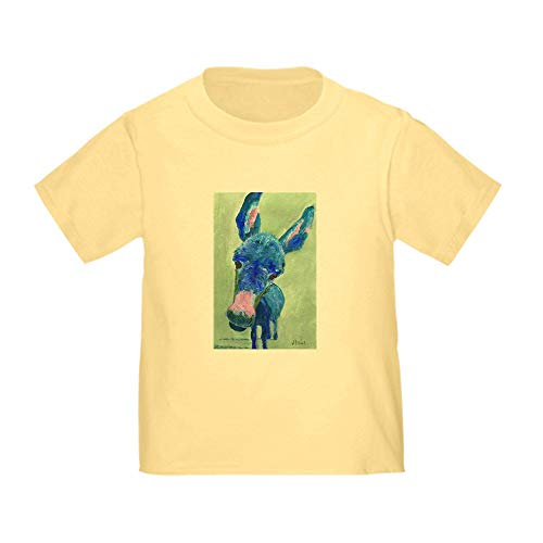 CafePress Wonkey Donkey T Shirt Cute Toddler T-Shirt, 100% Cotton Daffodil - T-shirt Yellow Donkey