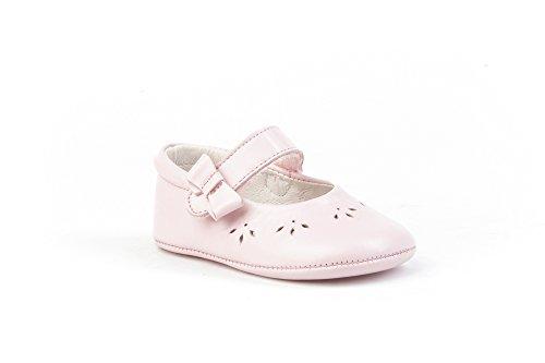Patucos Merceditas para Bebé Todo Piel, mod.242. Calzado infantil Made in Spain, Garantia de calidad. Novedad en Amazon Rosa