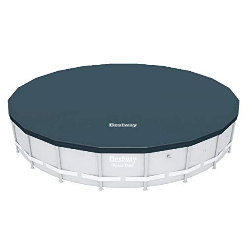Bestway Round PVC 20 Foot Flowclear Frame Above Ground Swimming Pool Cover