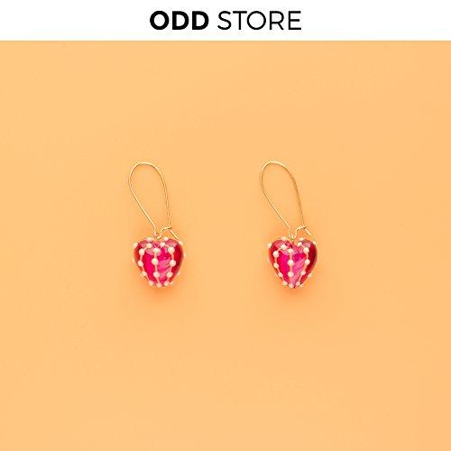 TKHNE | Crowe Heart | plating color retention funky retro love earrings -
