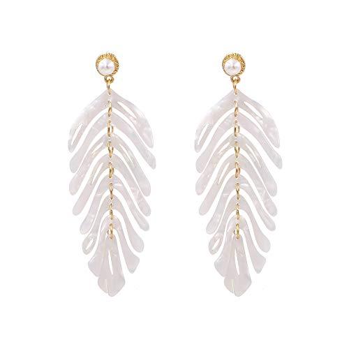 Acrylic Earrings For Women Girls Statement Palm Leaf Earrings Resin monstera Drop Dangle Earrings Fashion - Palm Tree Acrylic