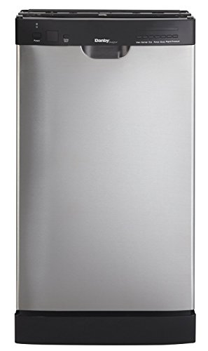 Danby DDW1802EBLS Designer Series Energy Star Compliant Dishwasher with 8 Place Settings 7 Wash Cycles Durable Stainless Steel Interior Rinse Agent Dispenser and Silverware Basket in Stainless