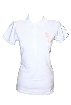 finest selection b025e 587bf Ralph Lauren Damen Polo Shirt Poloshirt BIG Pony NEU Weiß ...