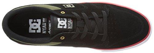 Dc Mens Nyjah Gevulkaniseerde Sneaker Zwarte Olijf