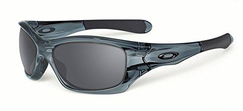 Oakley Men's Pit Bull Asian Fit  Sunglasses,Crystal Black Frame/Black Iridium Lens,one - Pit Bull Oakley