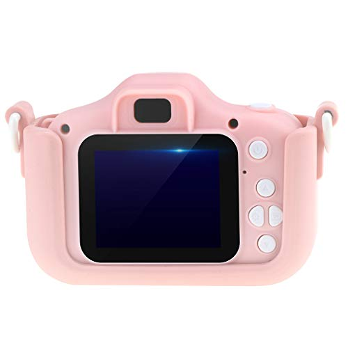 Fan-Ling Kid Mini Cartoon Camera 2 Inch Rechargeable Digital Child Camcorder for Outdoor,Cartoon hild Smart Small Camera,Gifts for Kids,Pocket Size Easily Carry (Pink) (3000x Zoom)
