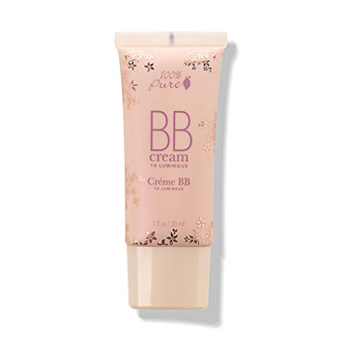 100% Pure - 100% Pure All Natural Organic Glowing Flawless Complexion BB Cream, Shade 10 Luminous, 1 Ounce