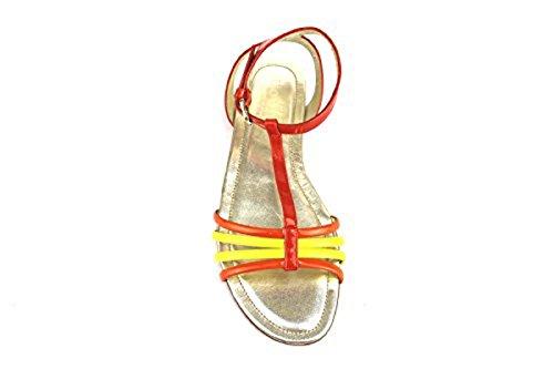 HOGAN sandalen Damen Orange gelb Lack AH701
