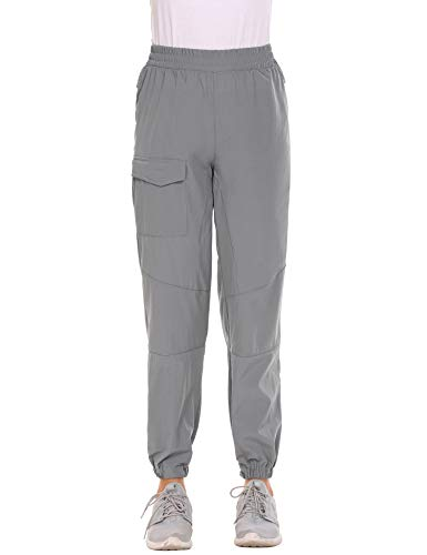 Guteer Women Winter Outdoor Quick Dry Hiking Camping Elastic Waist Pull on Sports Pants,Charcoal Grey,X-Large (Best Pants For Winter Camping)