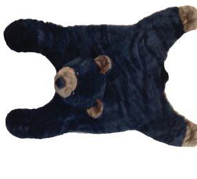 Soft And Cuddly Cute Black Bear Floor Throw Area Rug (Great Kids Rug) 42''