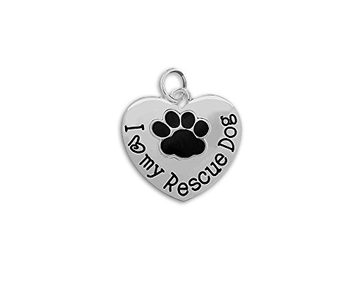 I Love My Rescue Dog Charms (Wholesale Pack - 25 (Wholesale Dog Charms)