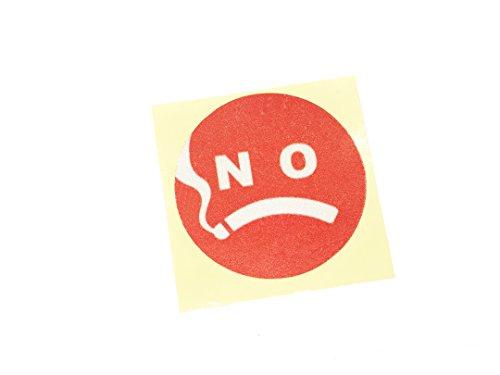 Dian Bin-BM30703 The Expression No Smoking Red KK Car Sticker Vehicle-logo Badge Emblem